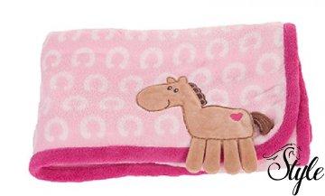 12730e23c0 HKM bébi pléd rózsaszín lovacskás mintával - lovaswebaruhaz.hu ...